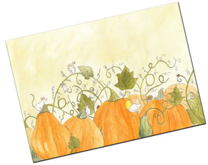 Halloween Greeting Card - Among The Pumpkins