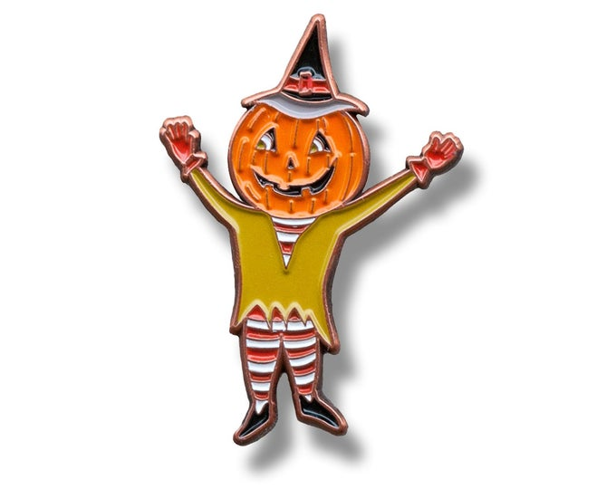 Enamel Halloween Pin - Pumpkin Man