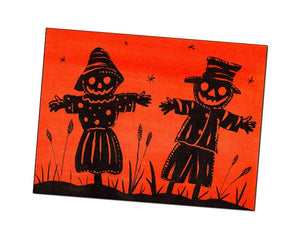 Halloween Greeting Card - Halloween Scarecrows