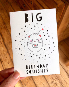 Greeting Card -  Happy Birthday Squishes