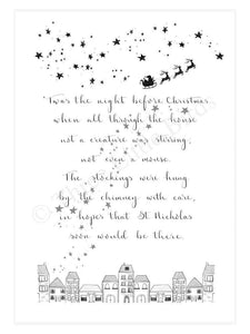 Art Print - T'was the night before Christmas...- A4