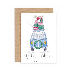 Christmas Car/Nollaig Shona - Christmas Card