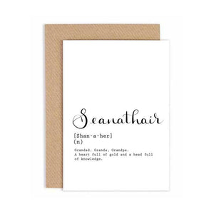 Greeting Card - Seanathair - Grandfather