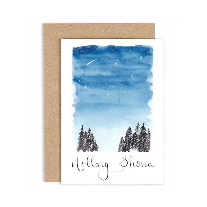 Starry Night - Christmas Card