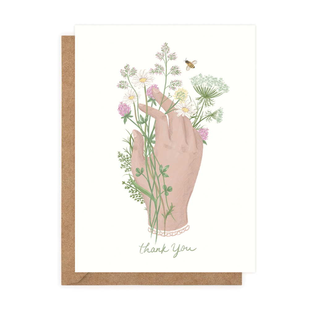 Thank You Irish Wildflowers (Greeting Card)