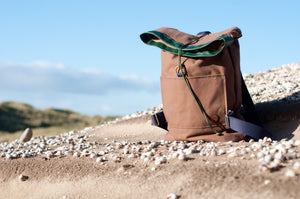 Tan Canvas Rolltop Backpack