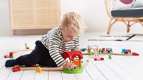 Enjoy fast, free nationwide shipping!  Owned by a husband and wife team of high-school music teachers, Redtailtoys.com is your one stop shop for quality toys & gifts like our 12 Piece Wooden Railway Train Farm Set.