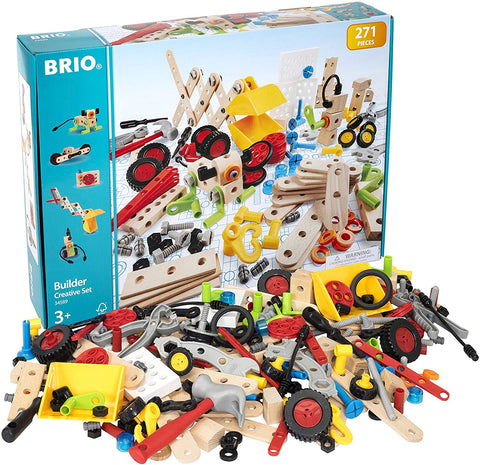Enjoy free fast shipping on ethically made, custom handcrafted toys & baby shower gifts at Redtailtoys.com like our Builder Creative Set - 271 Piece Construction Set STEM Toy.  Shop quality Montessori, educational, learning, Waldorf, building, creative, free-play, imaginative play, safe, eco-friendly, imported and USA-handmade wooden toys.