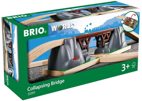 Collapsing Bridge, 3 Piece Toy Train Accessory