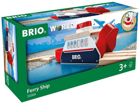 Ferry Ship - 3 Piece Toy Train Accessory