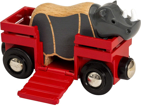 Safari Rhino & Wagon Kids Toy