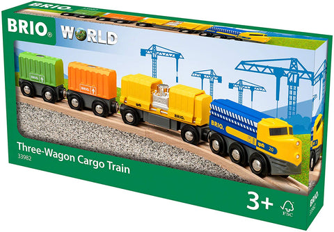Enjoy fast, free nationwide shipping!  Owned by a husband and wife team of high-school music teachers, Redtailtoys.com is your one stop shop for quality toys & gifts like our Three-Wagon Cargo Wooden Toy Train.