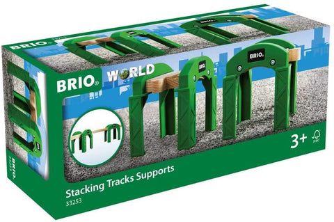 Stacking Track Supports - 2 Piece Toy Train Accessory