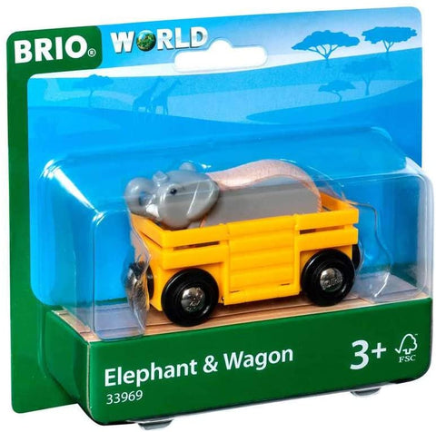 Safari Elephant & Wagon