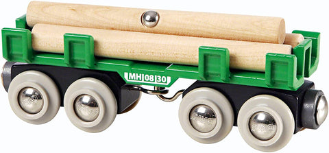 Lumber Loading Wagon - 4 Piece Train Toy