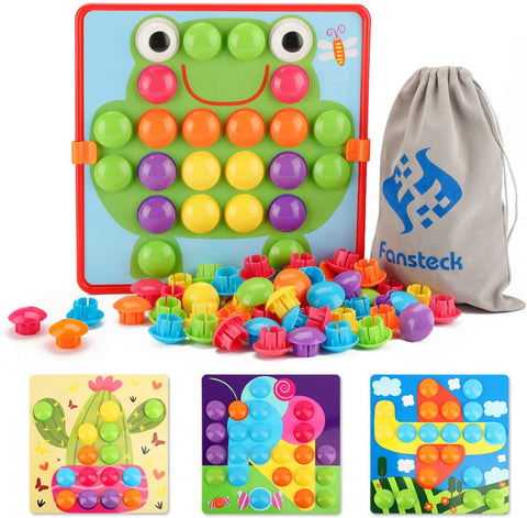 24 Pictures and 50 Buttons w/ a Storage Bag for kids