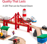 Enjoy fast, free nationwide shipping!  Owned by a husband and wife team of high-school music teachers, Redtailtoys.com is your one stop shop for quality toys & gifts like our Railway World Deluxe Wooden Toy Train Set.