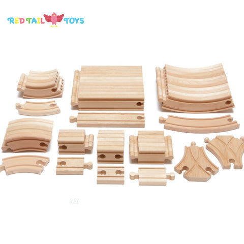 Enjoy free fast shipping on ethically made, custom handcrafted toys & baby shower gifts at Redtailtoys.com like our Billie 54 pc Expansion Hardwood Track Set.  Shop quality Montessori, educational, learning, Waldorf, building, creative, free-play, imaginative play, safe, eco-friendly, imported and USA-handmade wooden toys.