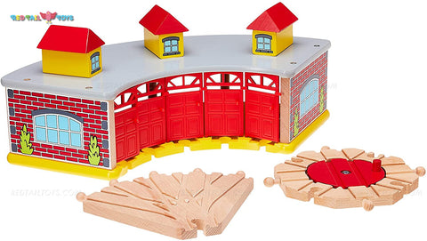 Enjoy free fast shipping on ethically made, custom handcrafted toys & baby shower gifts at Redtailtoys.com like our Billie Train Shed and Hardwood Turntable Set.  Shop quality Montessori, educational, learning, Waldorf, building, creative, free-play, imaginative play, safe, eco-friendly, imported and USA-handmade wooden toys.
