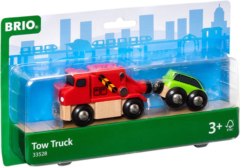 Tow Truck - Wooden Toy Train Accessory