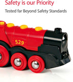 Mighty Red Action Locomotive , Battery Operated Toy Train With Light and Sound Effects