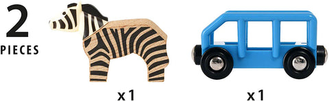 Safari Zebra & Wagon Kids Toy
