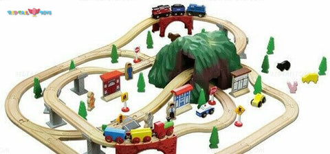 Enjoy free fast shipping on ethically made, custom handcrafted toys & baby shower gifts at Redtailtoys.com like our Billie 100 Piece Mountain Hardwood Train Set.  Shop quality Montessori, educational, learning, Waldorf, building, creative, free-play, imaginative play, safe, eco-friendly, imported and USA-handmade wooden toys.