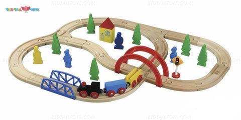 Enjoy free fast shipping on ethically made, custom handcrafted toys & baby shower gifts at Redtailtoys.com like our Billie 40 Piece Hardwood Train Set.  Shop quality Montessori, educational, learning, Waldorf, building, creative, free-play, imaginative play, safe, eco-friendly, imported and USA-handmade wooden toys.