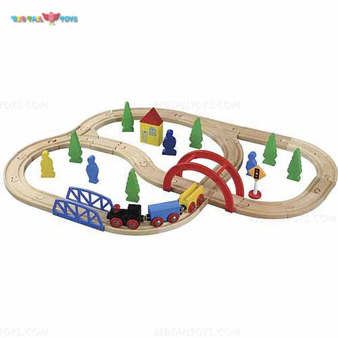 Enjoy free nationwide shipping on eco-friendly, sustainably USA sourced toys & games at Redtailtoys.com like our Billie 40 Piece Hardwood Train Set.  Shop play, educational, STEM, Montessori, Waldorf, wooden, sustainable, learning, action, girl, boy, stuffed, puzzle, toddler, baby, infant, cars, outdoors, indoors, building, creative, balance bikes, musical instruments, and more.