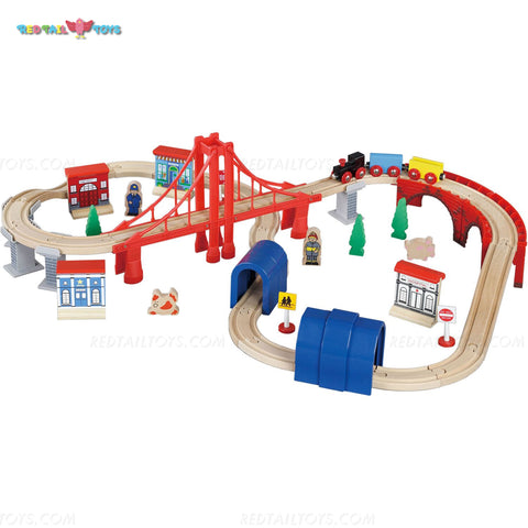 Enjoy free fast shipping on ethically made, custom handcrafted toys & baby shower gifts at Redtailtoys.com like our Billie 60 Piece Hardwood Train Set.  Shop quality Montessori, educational, learning, Waldorf, building, creative, free-play, imaginative play, safe, eco-friendly, imported and USA-handmade wooden toys.