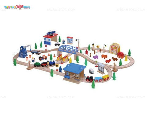 Enjoy free nationwide shipping on eco-friendly, sustainably USA sourced toys & games at Redtailtoys.com like our Billie 100 Piece Hardwood Train & Accessories Set.  Shop play, educational, STEM, Montessori, Waldorf, wooden, sustainable, learning, action, girl, boy, stuffed, puzzle, toddler, baby, infant, cars, outdoors, indoors, building, creative, balance bikes, musical instruments, and more.