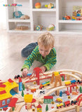 Enjoy free nationwide shipping on eco-friendly, sustainably USA sourced toys & games at Redtailtoys.com like our Billie 145 Piece Hardwood Train Set.  Shop play, educational, STEM, Montessori, Waldorf, wooden, sustainable, learning, action, girl, boy, stuffed, puzzle, toddler, baby, infant, cars, outdoors, indoors, building, creative, balance bikes, musical instruments, and more.