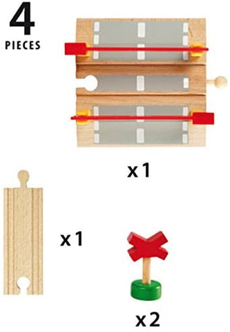 Railway Crossing - 4 Piece Toy Train Accessory