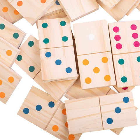 Enjoy fast, free nationwide shipping!  Owned by a husband and wife team of high-school music teachers, Redtailtoys.com is your one stop shop for quality toys & gifts like our 28-Piece Giant Jumbo Wooden Dominoes Games w/ Colorful Dots.