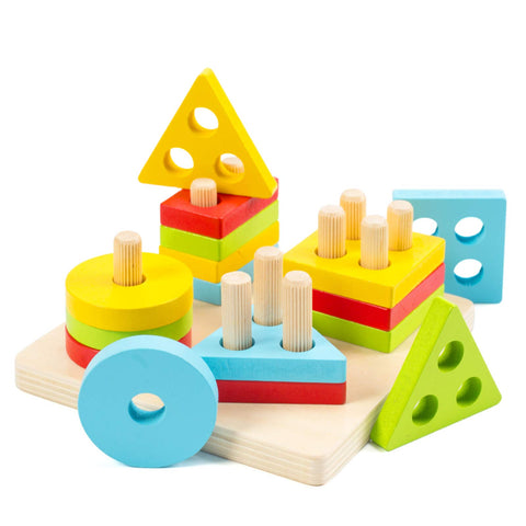 Enjoy fast, free nationwide shipping!  Owned by a husband and wife team of high-school music teachers, Redtailtoys.com is your one stop shop for quality toys & gifts like our Educational Shape Color Recognition Puzzle.