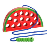 Enjoy fast, free nationwide shipping!  Owned by a husband and wife team of high-school music teachers, Redtailtoys.com is your one stop shop for quality toys & gifts like our Wooden Lacing Watermelon Threading Toy.
