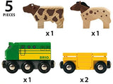 Enjoy fast, free nationwide shipping!  Owned by a husband and wife team of high-school music teachers, Redtailtoys.com is your one stop shop for quality toys & gifts like our Farm Train - 5 Piece Wooden Toy Train Set.