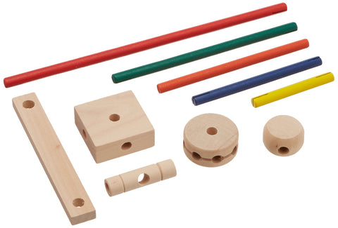Enjoy fast, free nationwide shipping!  Owned by a husband and wife team of high-school music teachers, Redtailtoys.com is your one stop shop for quality toys & gifts like our Makit Toy multi-colored pieces including connector rods and circles.