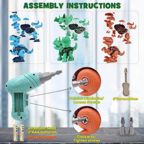 Enjoy fast, free nationwide shipping!  Owned by a husband and wife team of high-school music teachers, Redtailtoys.com is your one stop shop for quality toys & gifts like our Dinosaur Toys w/ Electric Drill for Kids Ages 3-8.
