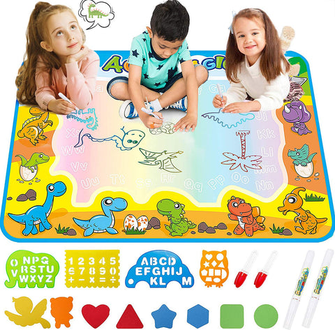 Large Aqua Water Painting Writing Doodle Mat for Kids