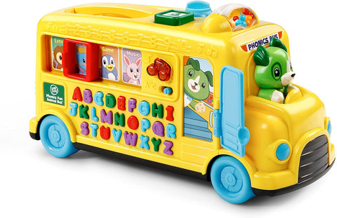Alphabet Phonics Bus featuring 26 colorful letter buttons