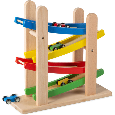 Enjoy fast, free nationwide shipping!  Owned by a husband and wife team of high-school music teachers, Redtailtoys.com is your one stop shop for quality toys & gifts like our 4 Level Toy Car Ramp Race Track Includes 4 Wooden Cars.
