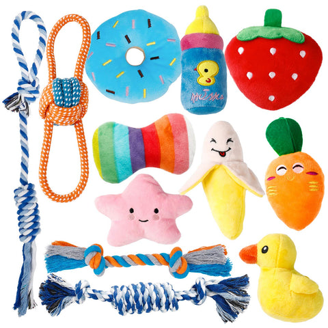 Enjoy fast, free nationwide shipping!  Owned by a husband and wife team of high-school music teachers, Redtailtoys.com is your one stop shop for quality toys & gifts like our Puppy Toys for Teething Small Dogs, 12 Pack Cute Small Dog Toys.