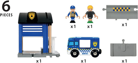 Police Station - 6 Piece Set