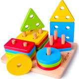 Enjoy fast, free nationwide shipping!  Owned by a husband and wife team of high-school music teachers, Redtailtoys.com is your one stop shop for quality toys & gifts like our Wooden Puzzle Shape Sorter Preschool Learning Toy.
