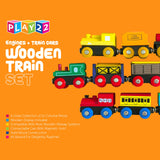 Enjoy fast, free nationwide shipping!  Owned by a husband and wife team of high-school music teachers, Redtailtoys.com is your one stop shop for quality toys & gifts like our Wooden Train 12 PCS - Toys Magnetic Includes 3 Engines.