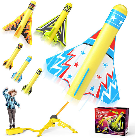 Enjoy fast, free nationwide shipping!  Owned by a husband and wife team of high-school music teachers, Redtailtoys.com is your one stop shop for quality toys & gifts like our Toy Rocket Launcher for Kids Sturdy Stomp Launch Toys Fun Outdoor Toy.