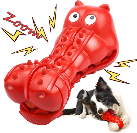 Enjoy fast, free nationwide shipping!  Owned by a husband and wife team of high-school music teachers, Redtailtoys.com is your one stop shop for quality toys & gifts like our Red Squeaky Dog Toys for Aggressive Chewers.