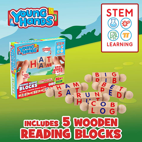 Enjoy fast, free nationwide shipping!  Owned by a husband and wife team of high-school music teachers, Redtailtoys.com is your one stop shop for quality toys & gifts like our Wooden Reading Blocks | [5] Sets of Fun.