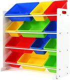 Enjoy fast, free nationwide shipping!  Owned by a husband and wife team of high-school music teachers, Redtailtoys.com is your one stop shop for quality toys & gifts like our White/Primary Toy Storage Organizer w/ 12 Plastic Bins.